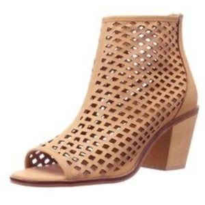 Kelsi Dagger Leather Open Toe Ankle Fashion Boots